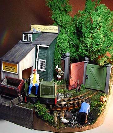 Carl Arendt's Squarefoot Estate Railway, G scale in one square foot