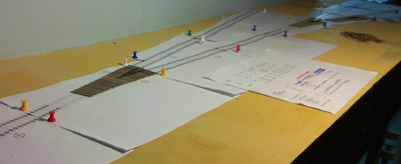 Using templates to test the track plan