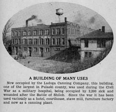 West end of building in later years as part of Ladoga Canning Company