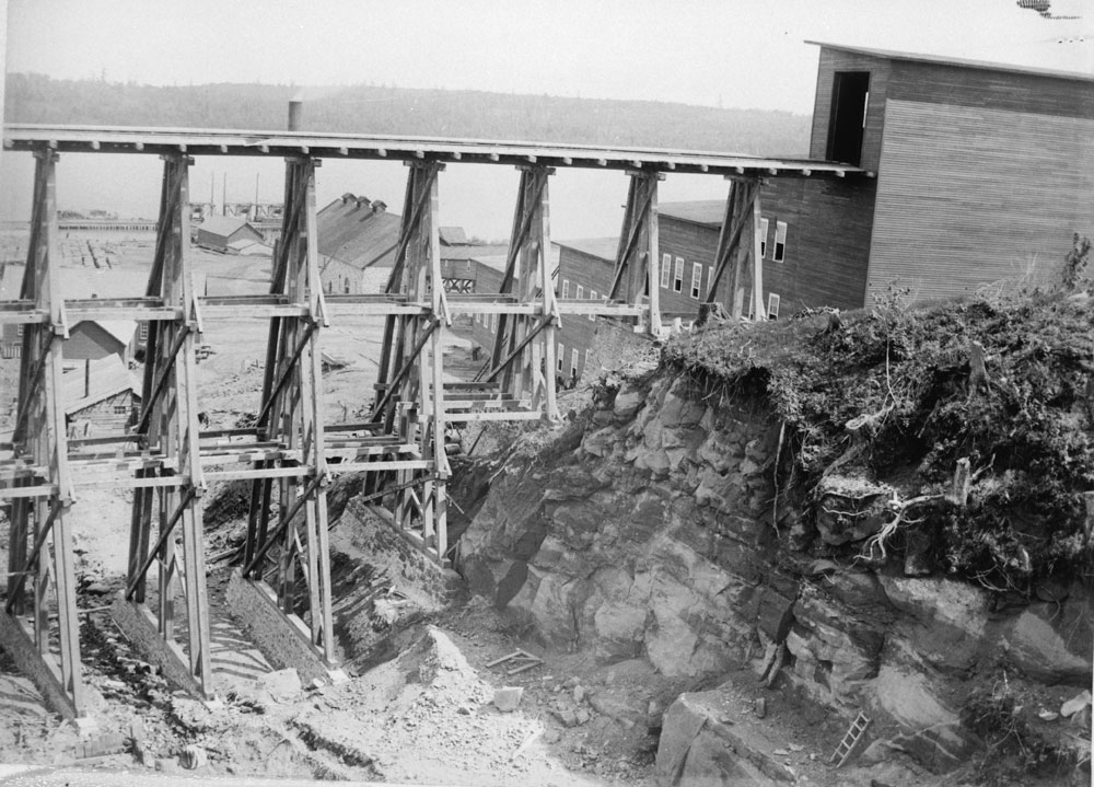 NO 1 Mill Trestle From Hill