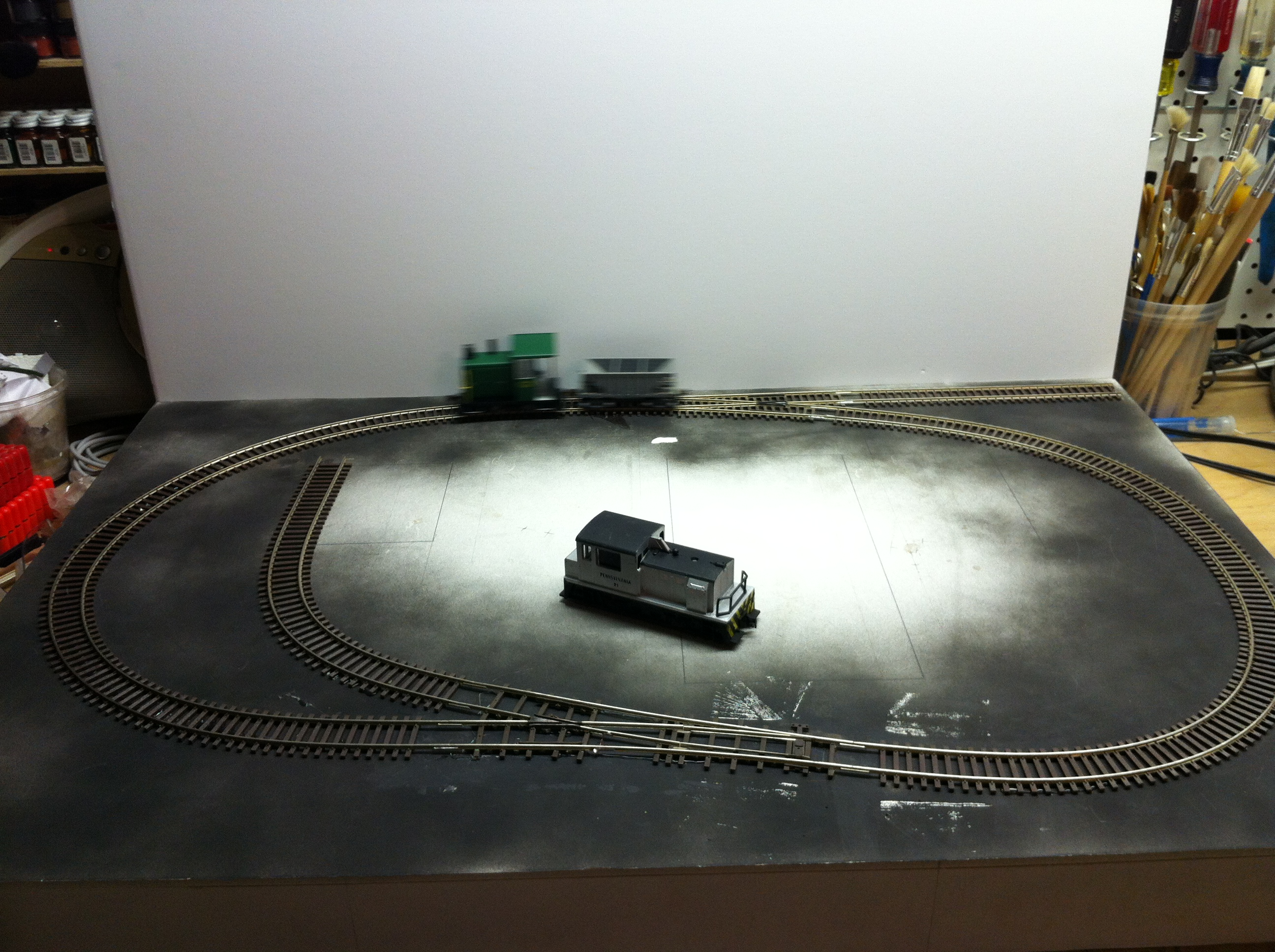 Bakersville track in place