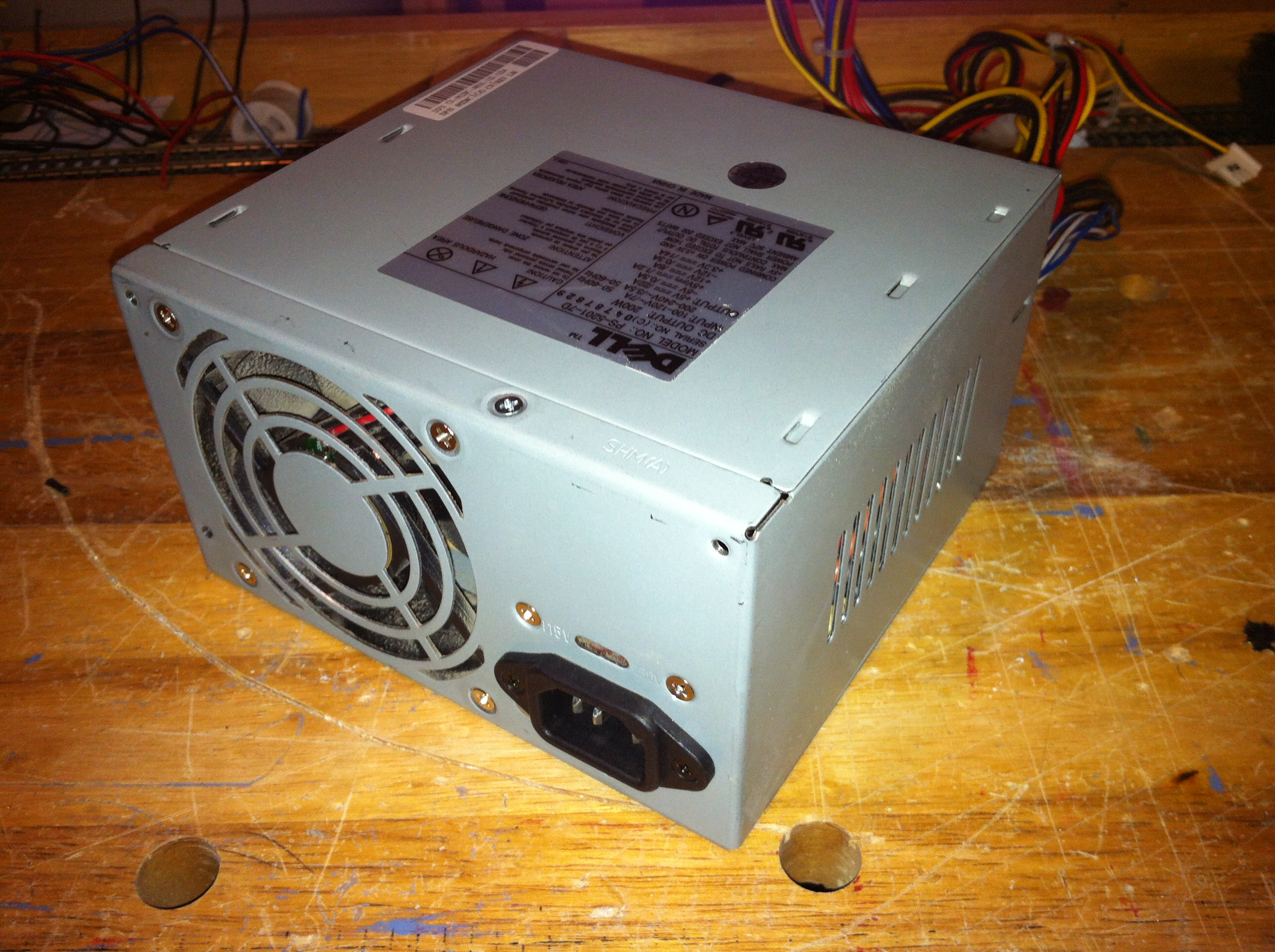 Typical power supply removed from computer