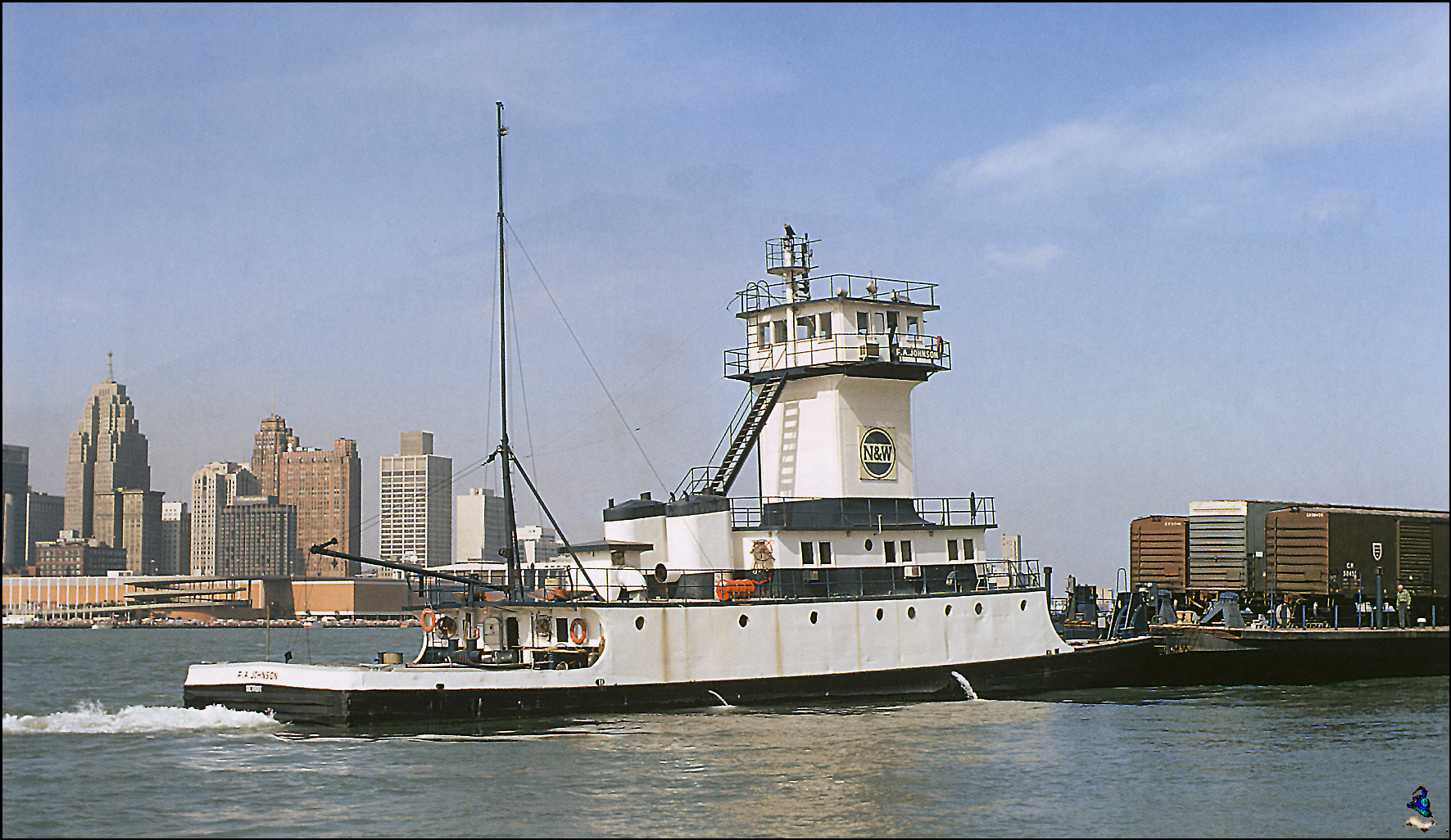 N&W F-A-Johnson Detroit River 1972