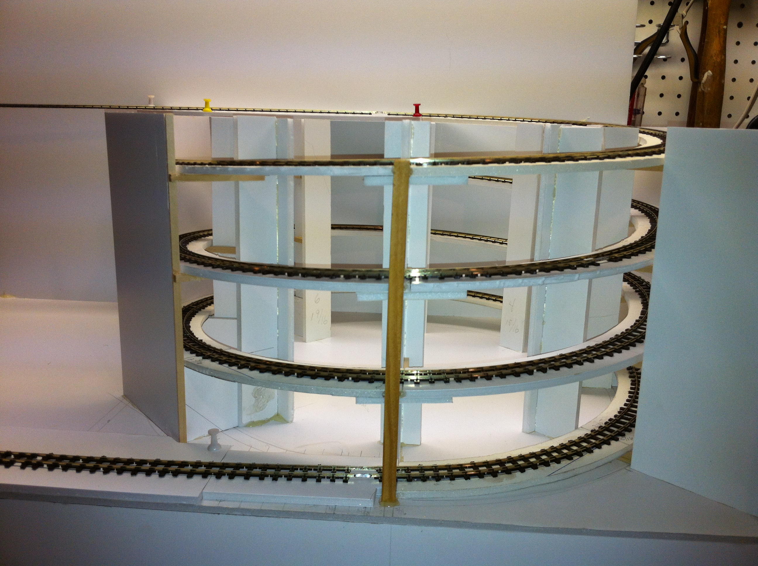 A Helix in Foam Core – Small Model Railroads