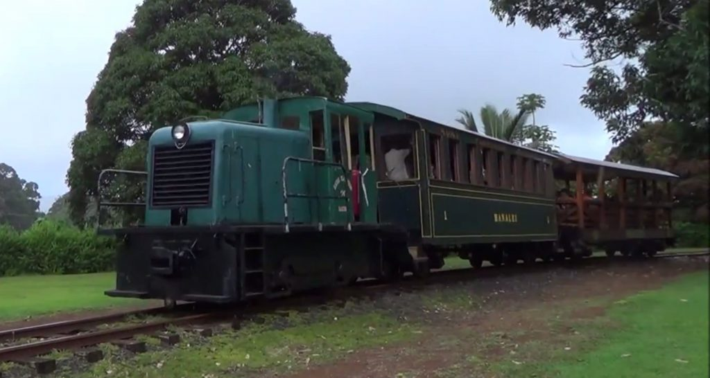 Kauai Plantation Railway powered by a restored 1939 Whitcomb diesel engine