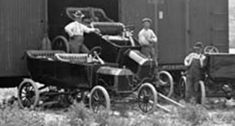 The coming of cars and trucks forever changed the way railroads serviced the community. But let's not forget how they got there!
