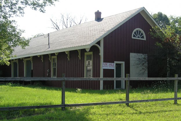 This freight house from Brooklyn, MI is very similar to the one that was in Tecumseh, MI.
