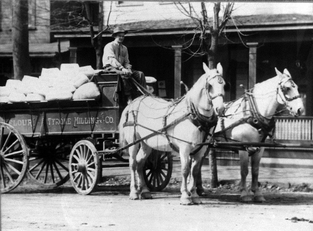 Wagon of flour similar to that used in Tecumseh circa 1900