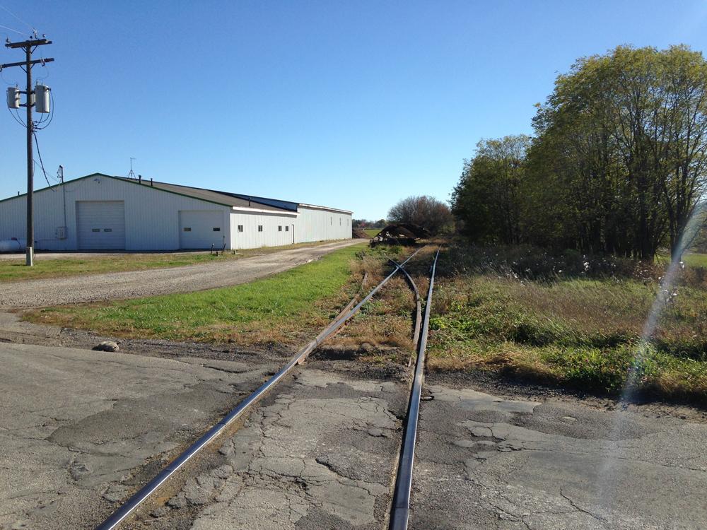 Old potato warehouse and siding.
