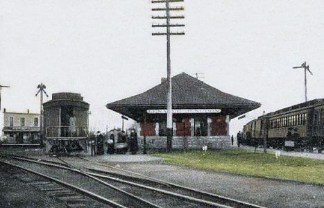 Lenawee Junction Depot sometime around 1900