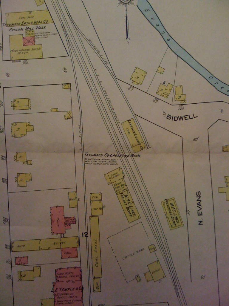 Sanborn Map of North Yard area