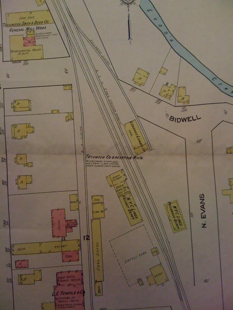 Sanborn Map of North Yard area