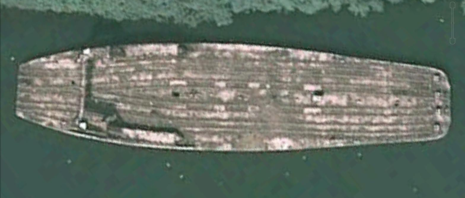 The Detroit captured in a satellite photo just before being scrapped