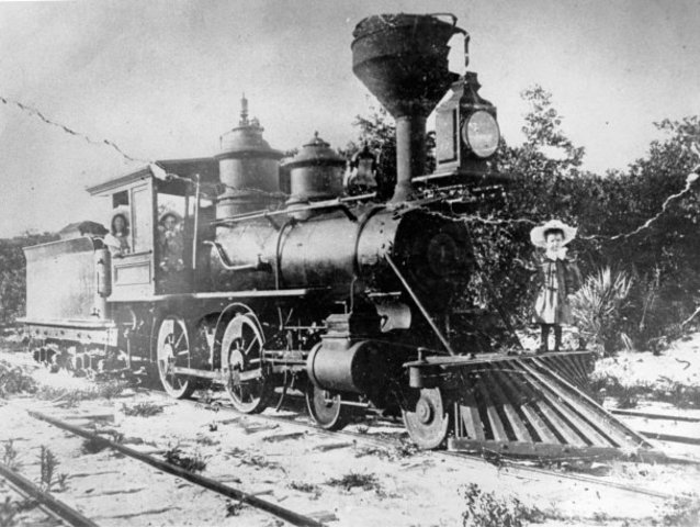 Dora Doster is pictured on the front of Celestial Railroad engine #1