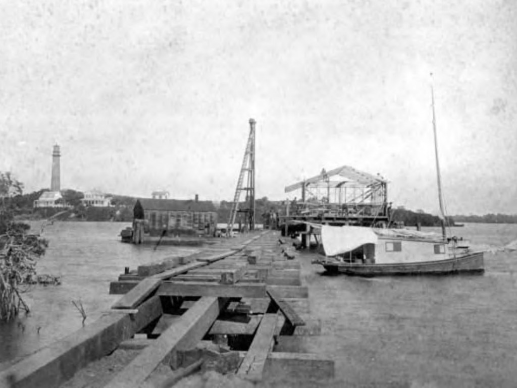 Jupiter Dock under construction.