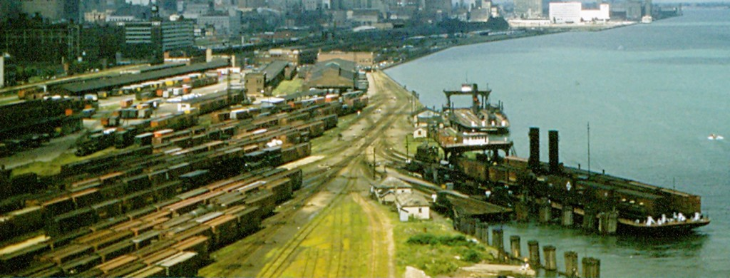 Part of the Boat Yard as seen from the Ambassador bridge in 1957
