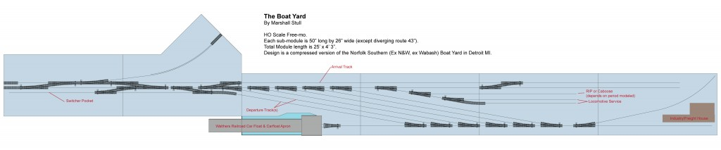 Track plan was created in Sketchup 2015. Click plan for larger view.