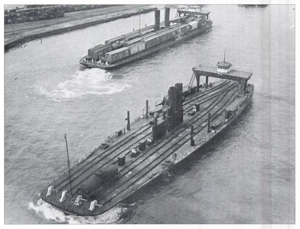 The ferry Detroit prior to being converted to barge.