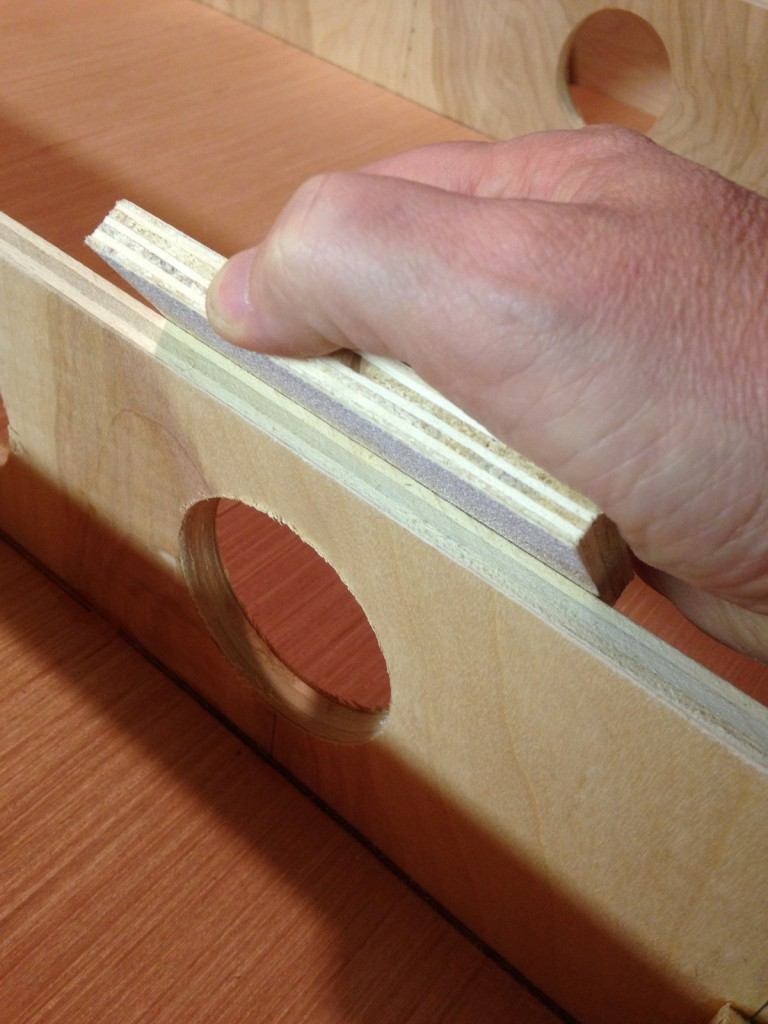 A quick sanding block to the edges reduces the number of possible splinters later.