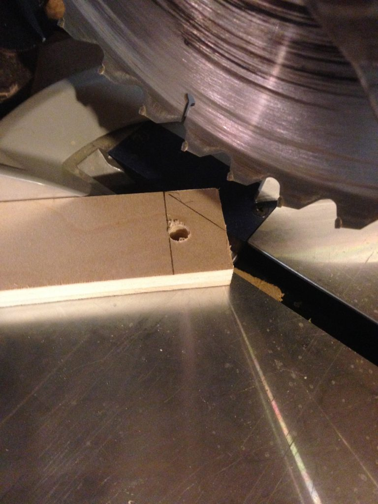 Cutting 45 degree angles was much simpler than rounding the top. I am not that great with a jig saw.